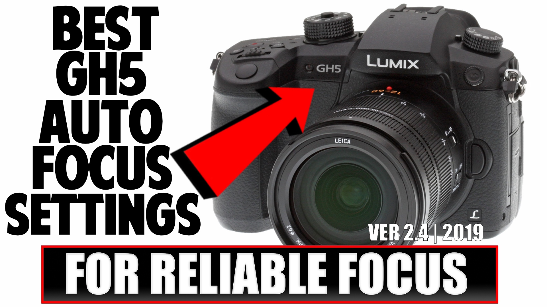 The Best GH5 Auto Focus Settings
