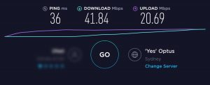 Optus Home Broadband Speed Test