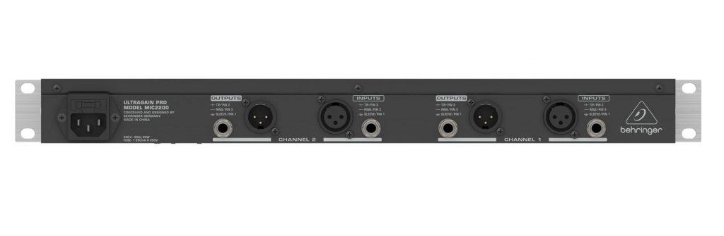Behringer-MIC-2200 Back Panel