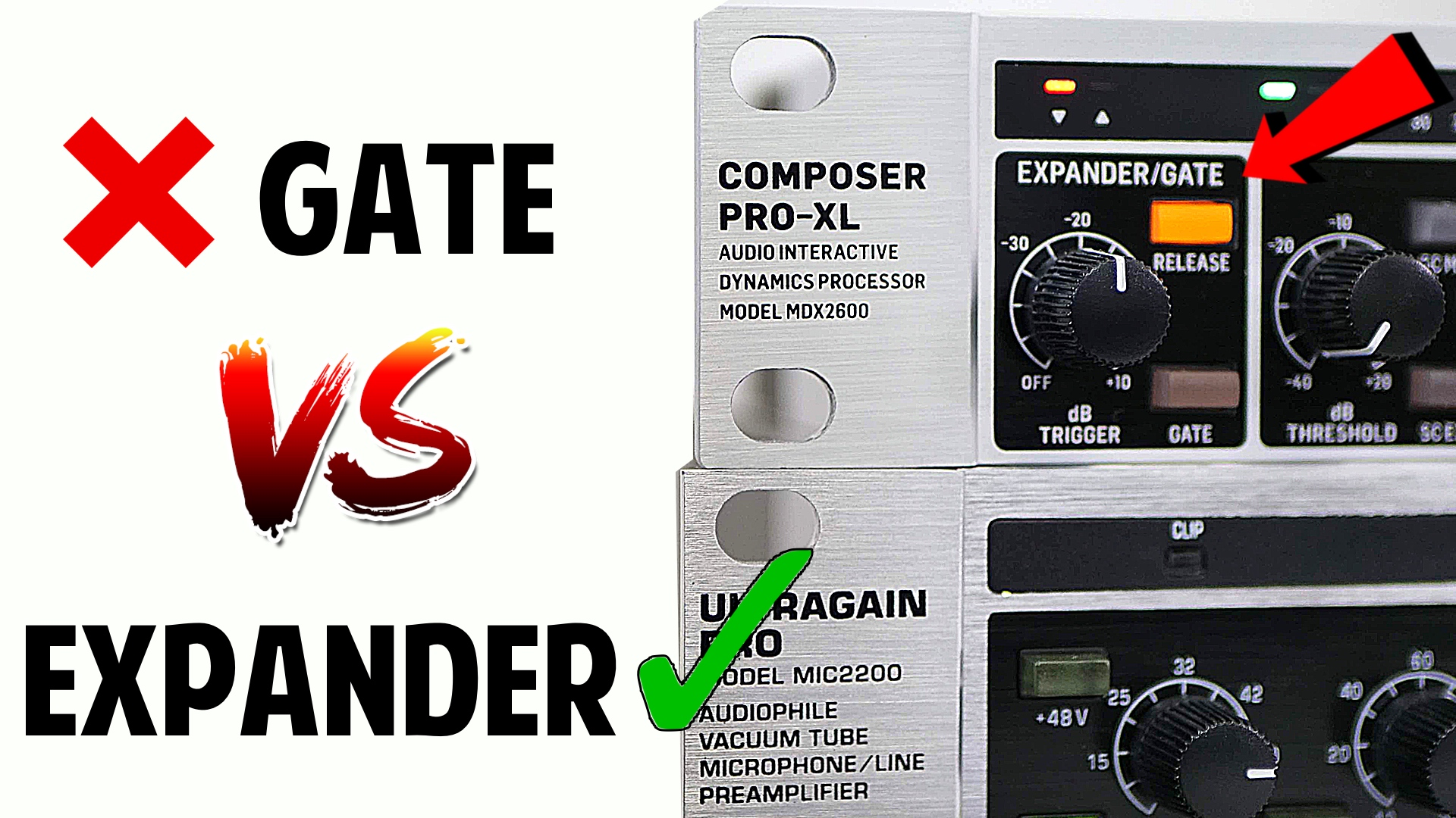 Noise Gate vs Expander